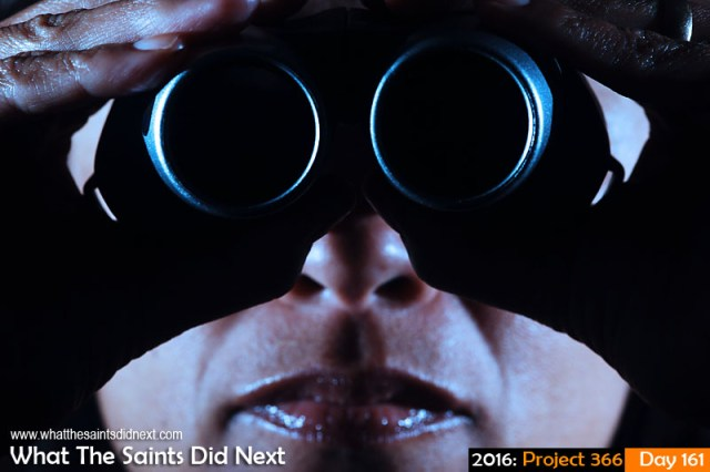 'Scrapped' 9 June 2016, 16:24 - 1/125, f/8, ISO-200 + flash x 2 What The Saints Did Next - 2016 Project 366 Binoculars