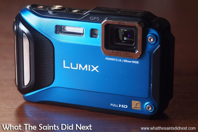 The Panasonic Lumix DMC-FT5, built tough to handle every type of photography adventure. Rated waterproof to 13m/43ft, shockproof from 2m and freezeproof down to -10C. This is our one, nearly 1 and half years old, has been everywhere and still looking good and well used.