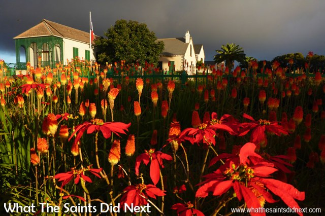 Another stunning example of what's possible with the Panasonic Lumix DMC-FT5. This is Longwood House on St Helena, with the last light of the day illuminating the red hot poker flowers.