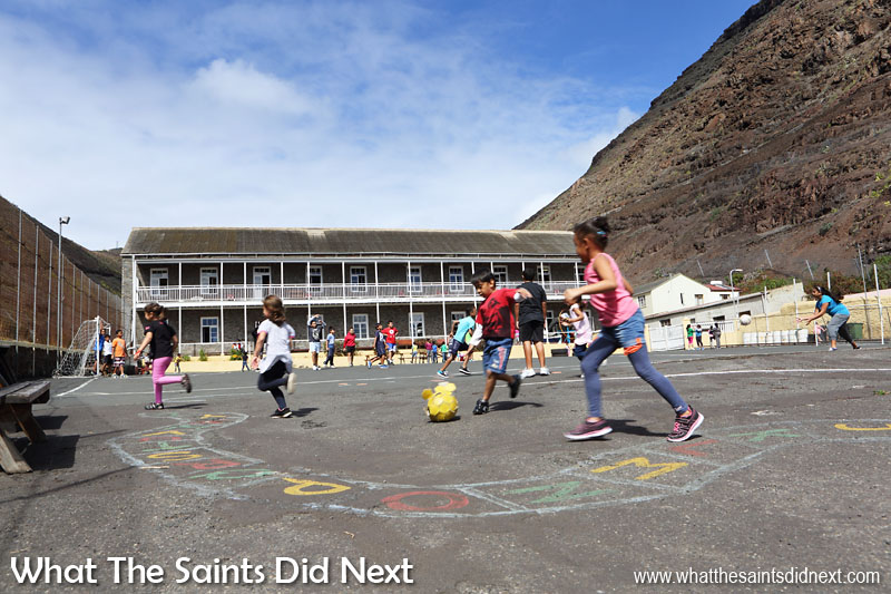Pilling Primary School in Jamestown. This is one of the three primary schools on St Helena, the other two are located up in the country districts.