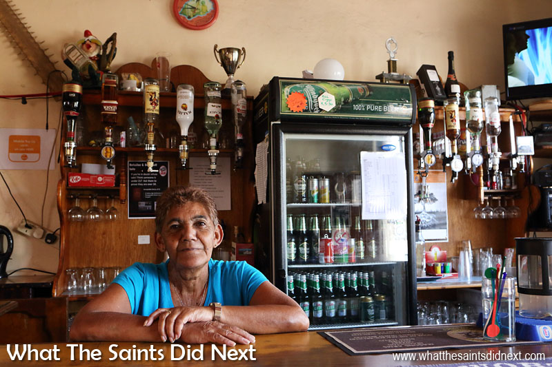 The Standard Bar is a traditional pub located on The Bridge in Jamestown. Cynthia Isaac works as a cleaner in the pub.
