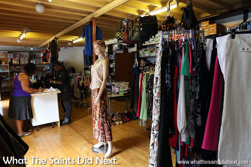 Inside one of the clothes shops along Main Street in Jamestown, St Helena.