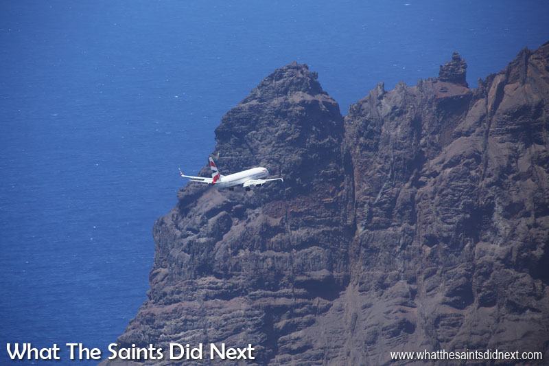 On 18 April, 2016, the very first 'big jet' landed at St Helena, this British Airways, Boeing 737-800, which we photographed from the top of the Barn. To view our blog post from that day with all the pictures and a video, click here.