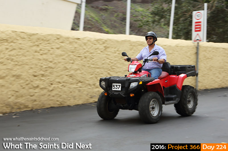 'Keyhole'<br /> 11 August, 2016, 10:29 - 1/160, f8, ISO-200<br /> ATV quad bike on Main Street