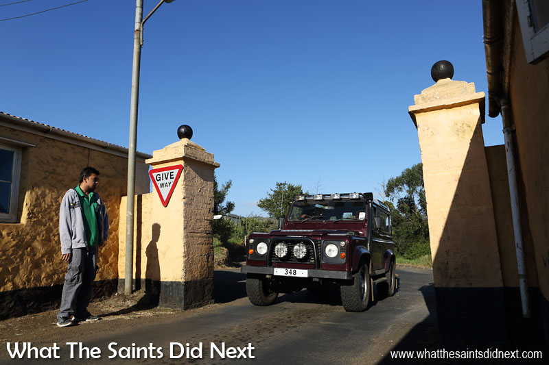 Longwood Gate, start of the Avenue and a key reference point at Longwood St Helena.