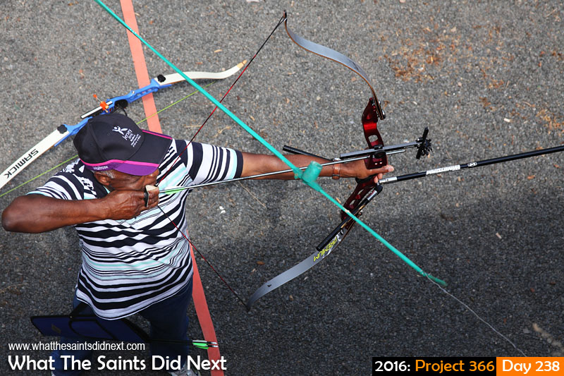 'Graphene'<br /> 25 August, 2016, 13:35 - 1/200, f8, ISO-200<br /> Archery session in progress at the Jamestown Rifle Club.