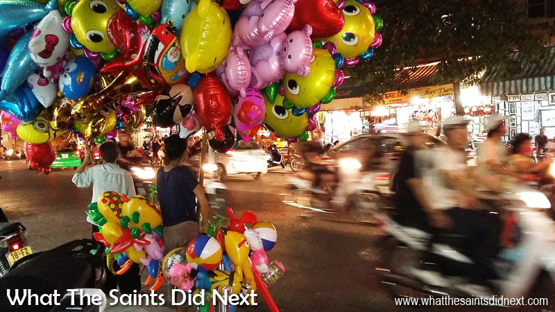 Night Moves - I tend to avoid mobile photography at night; the slow shutter speeds coupled with any subject movement normally means blurry pictures. But now and again it's worth a go - I'm really pleased with this shot, stabilised against a lamp post to shoot balloon sellers at night in Hanoi, Vietnam. The slow shutter speed conveys the sense of movement from the traffic running through the scene. Tips For Better Mobile Photography