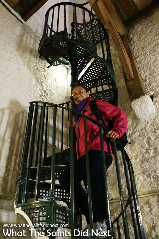 One of the highlights of our day out in Oxford City, in England, was climbing to the top of the 14th century Carfax Tower for a bird's eye view of the streets below. Looking back, this winding staircase and the confined spaces of this tourist attraction is not accessible friendly.
