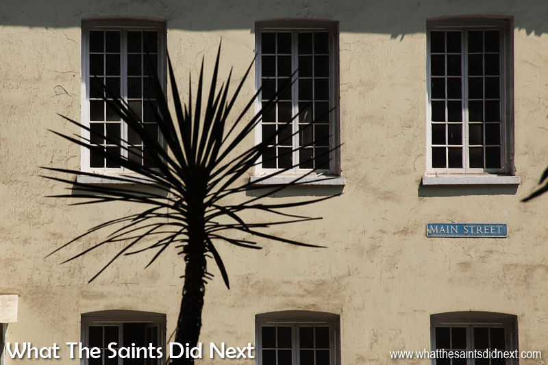 St Helena Pictures - An Island Tour Classic Jamestown. Main Street buildings viewed from across Castle Gardens.