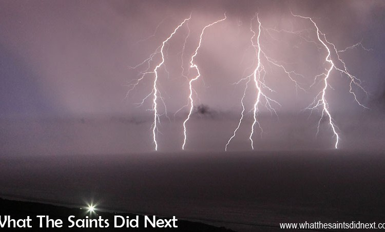Right Click:  Freak Thunder and Lightning On St Helena