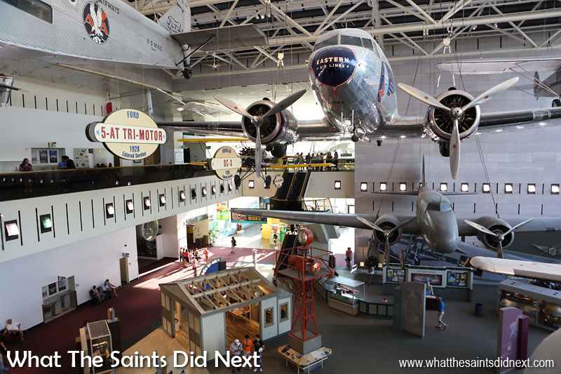 5.  Smithsonian National Air and Space Museum This is a must-see for aviation and space age buffs.  Inside you'll find aircraft flown by Amelia Earhart and Wilbur Wright, a space shuttle flight deck, the Lunar Lander and loads more.  Fascinating.