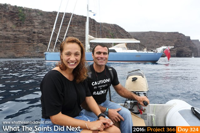 'Louise' 19 November 2016, 10:46 - 1/320, f8, ISO-200 What The Saints Did Next - 2016 Project 366 Yachties, Cheryl and Morgan Morice, returning for a quick visit to St Helena.