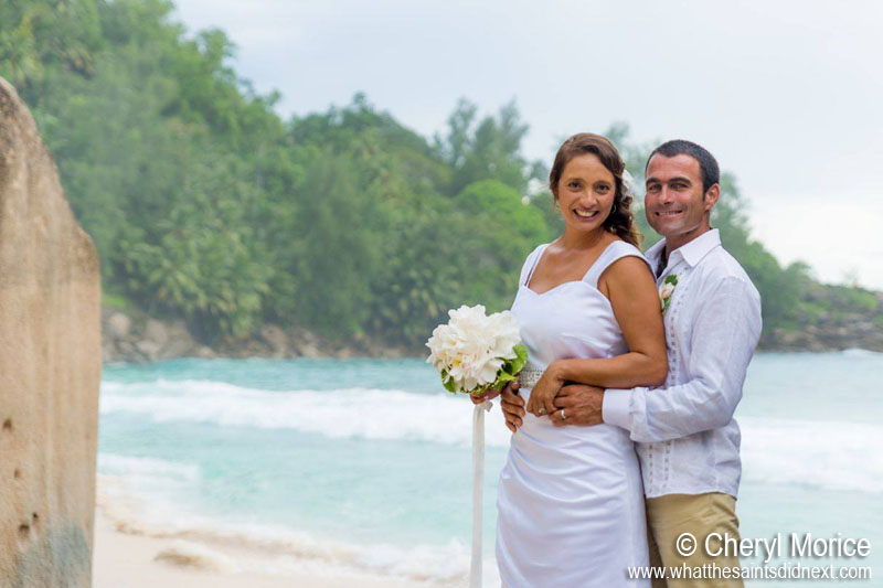 Mr and Mrs Morice - Cheryl and Morgan, married in the Seychelles earlier this year.
