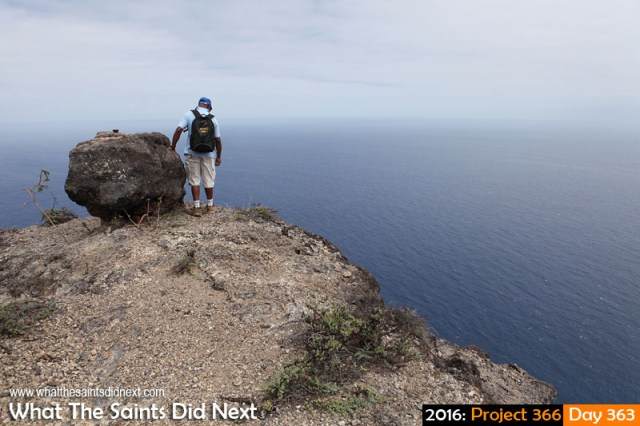 'Scarlett top' 28 December 2016, 10:54 - 1/500, f9, ISO-200 What The Saints Did Next - 2016 Project 366 On top of Sugar Loaf, St Helena Island.