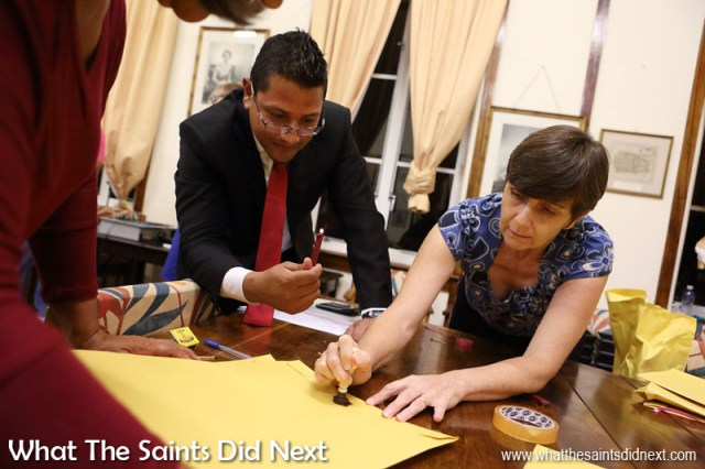 Two bye-elections too place in 2016. The first took place on 23 March when Mike Olsson was elected onto Legislative Council. Returning officers are seen here sealing the documents with a wax seal following the successful counting of votes. St Helena 2016: The Year In Review