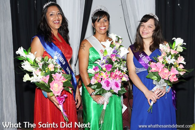 Photography Project 366 - Day 127. A new Miss St Helena, Kimley Yon, begins her two year reign on 6 May, flanked by Kaylee Young (1st runner up) and Jodie Scipio-Constantine (2nd runner up).
