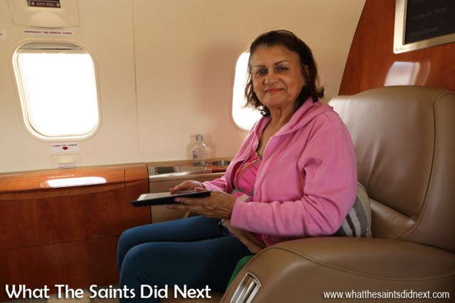Ivy Ellick. Flying from St Helena Airport.