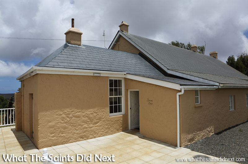 External rear view of newly refurbished Bertrand's Cottage, St Helena, in January 2017.