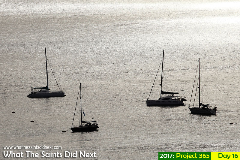 'Eight men'<br /> 16 January, 2017, 17:27 - 1/1250, f8, ISO-100<br /> Yachts on the moorings in James Bay,.