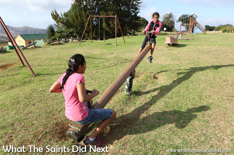 Things To Do With Kids On St Helena - The playground equipment on Longwood Green is well used by kids on St Helena.