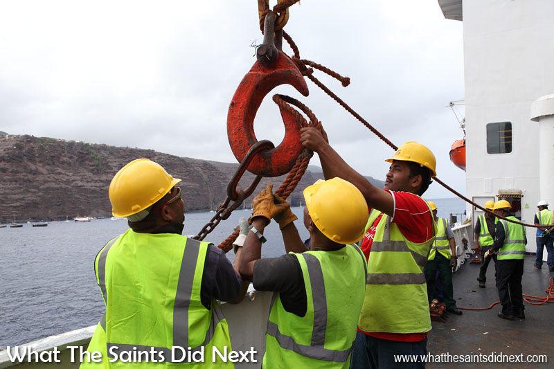 Breeze 3 E-Magazine features 'Labour Take-On Time,' a picture story about the men who 'work ship' at St Helena.