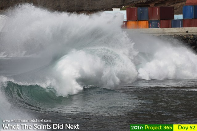 'Zawiya' 21 February 2017, 15:47 - 1/500, f7.1, ISO-200 What The Saints Did Next - 2017 Project 365 Atlantic rollers in James Bay, St Helena.