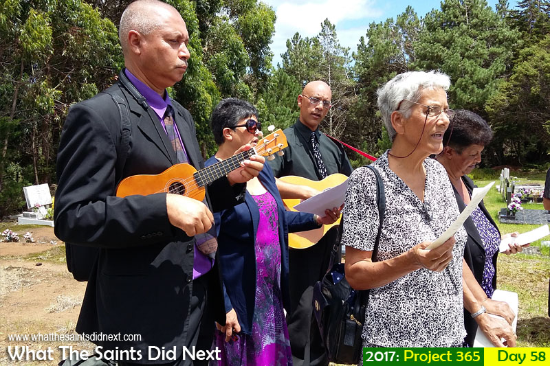 'Moonlight' 27 February 2017, 11:26 - 1/548, f2.4, ISO-50 - Samsung Galaxy A3 What The Saints Did Next - 2017 Project 365 Singspirationals playing music at a funeral on St Helena.