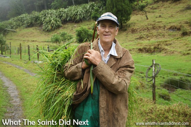 Cyril Legg, 74, from Levelwood, St Helena, on his way home with feed for his animals. Time-Lapse St Helena: Cyril Legg