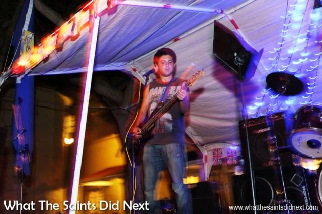James Fantom, bass player for Island Politics.