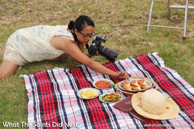 Behind the scenes photo shoot for Tomato Paste, better known on St Helena as simply, Bread and Dance