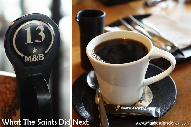 Mugg and Bean coffee a bottomless mug of Americano, for me.