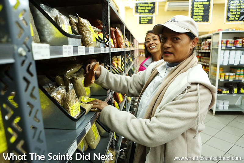 Cape Malay Cooking and Bo Kaap Safari tour began with a visit to Atlas Trading Company, a local spice shop with tour guide, Shireen Narkedien.