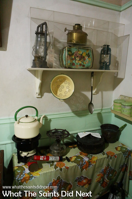 A typical residential kitchen in District Six from 1966, recreated here in the museum.