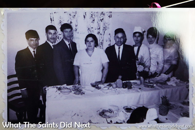 Taken in 1967, this photo shows Noor's parents surrounded by their children on the day his brother got engaged. Noor is second from the left. The family knew at the time this would be their last function in this house before eviction.