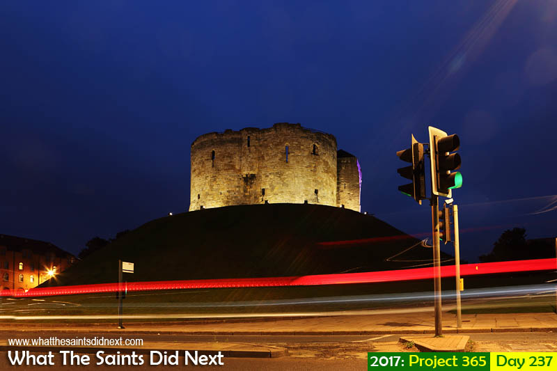'Dream Chaser'<br /> 25 August 2017, 20:51 - 15 sec, f10, ISO-100<br /> Clifford's Tower in York at night.