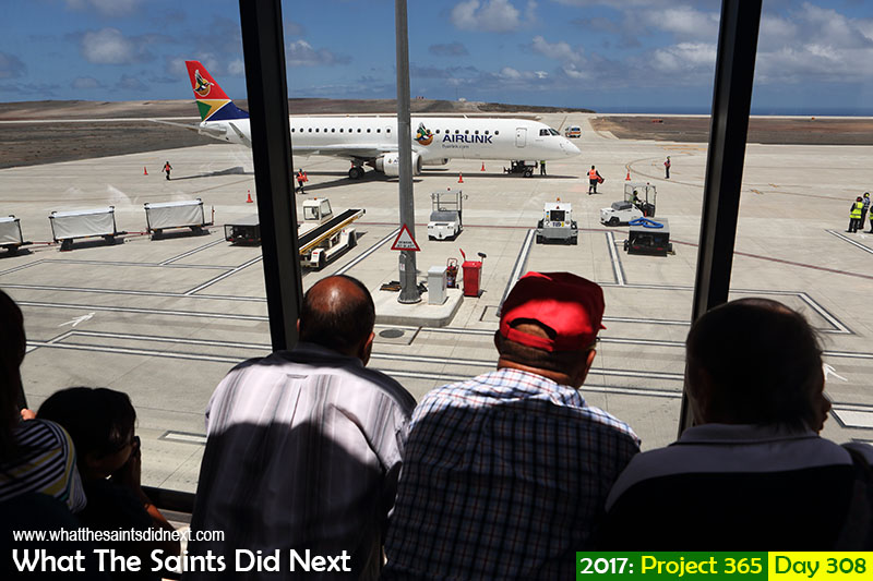 'Penny for a pint'<br /> 4 November, 2017, 13:02 - 1/800, f8, ISO-200<br /> SA Airlink scheduled flight no.4 arriving at St Helena airport.<br /> #saairlink #embraer190