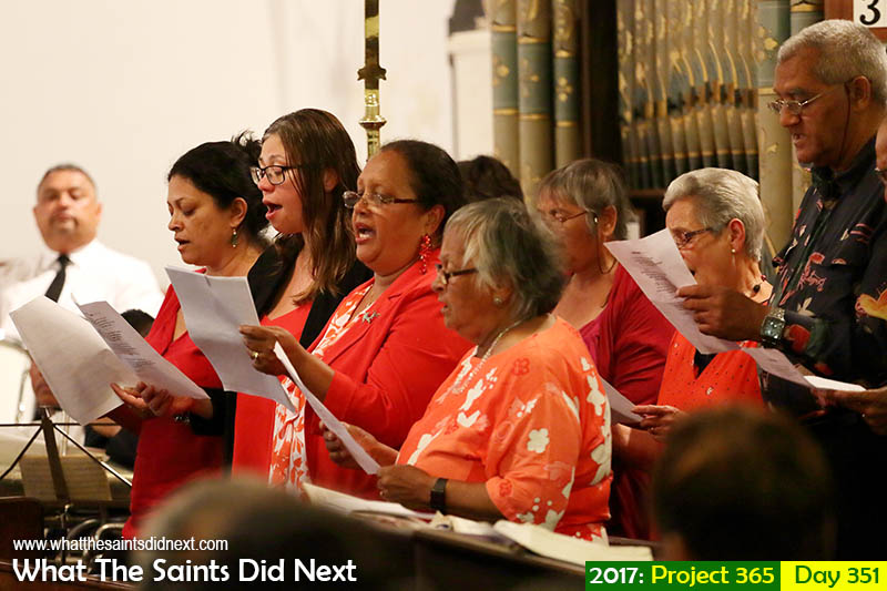 'Around the world in 42 days'<br /> 17 December, 2017, 20:26 - 1/60, f4, ISO-1250<br /> St James' Church Choir performing a number at the Christmas Ecumenical Service.