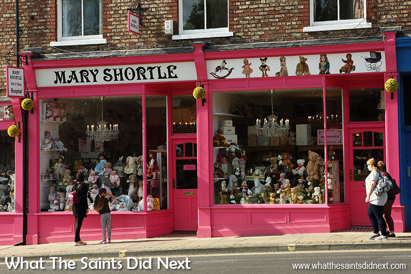 The ultimate toy shop York. The Mary Shortle shop of dolls, teddy bears and plush toys, found on the Lord Mayor's Walk.