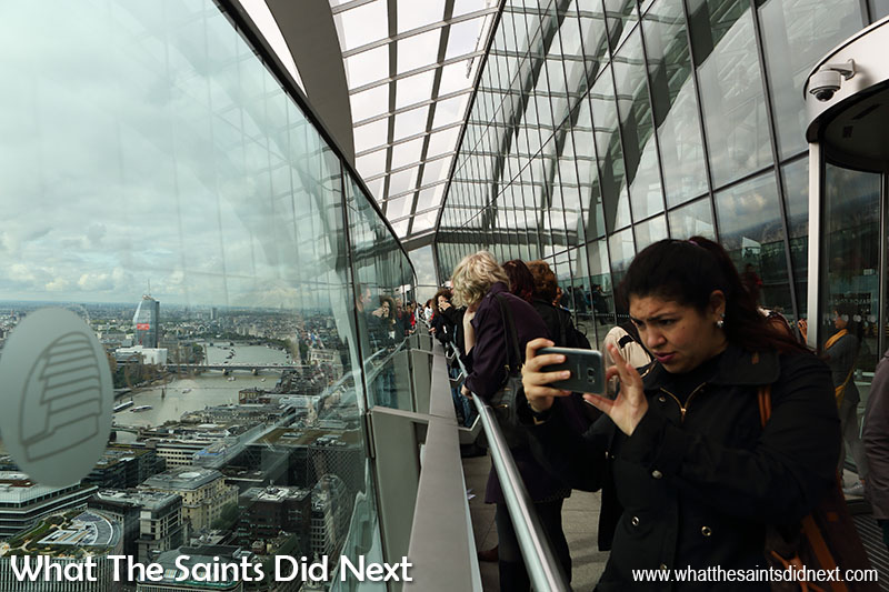 Sky Garden images taken from the viewing deck looking down on the River Thames and the More London area. The Sky Garden is an amazing experience and all for free!