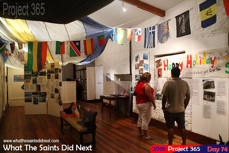 "First Saint family to circumnavigate the world on a yacht, <a href=""http://www.kidsinthecockpit.net/"" target=""_blank"" rel=""noopener"">the Hernes</a>, exhibiting their travel story in the Museum."