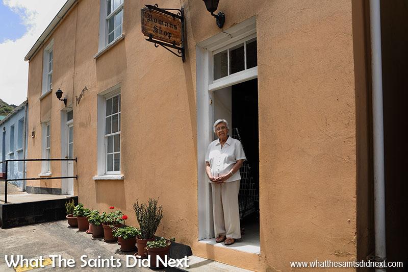 Door photography - Romans Shop doorway in upper Jamestown, St Helena.