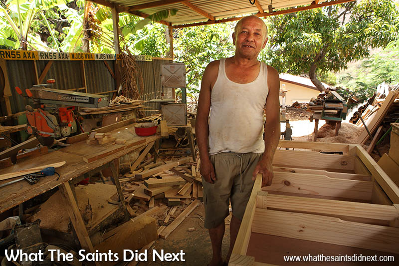 Boat builder and all round carpenter, Charlie George, in his home workshop in Jamestown, St Helena. Time-Lapse: The St Helena Boat Builder