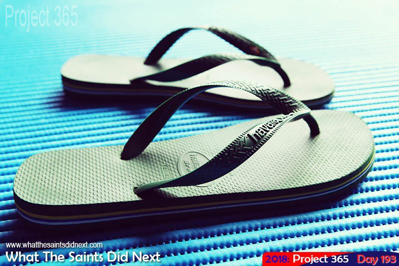 Havaianas flip flops.