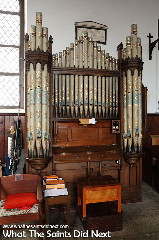 Churches of St Helena Island - The St James' church organ.