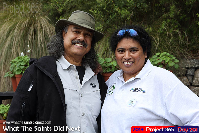 "Local conservationists Stedson Stroud and Vanessa Williams celebrate <a href=""http://whatthesaintsdidnext.com/conservation-on-st-helena-saving-precious-endemics/"" target=""_blank"" rel=""noopener"">38 years of island conservation</a>."