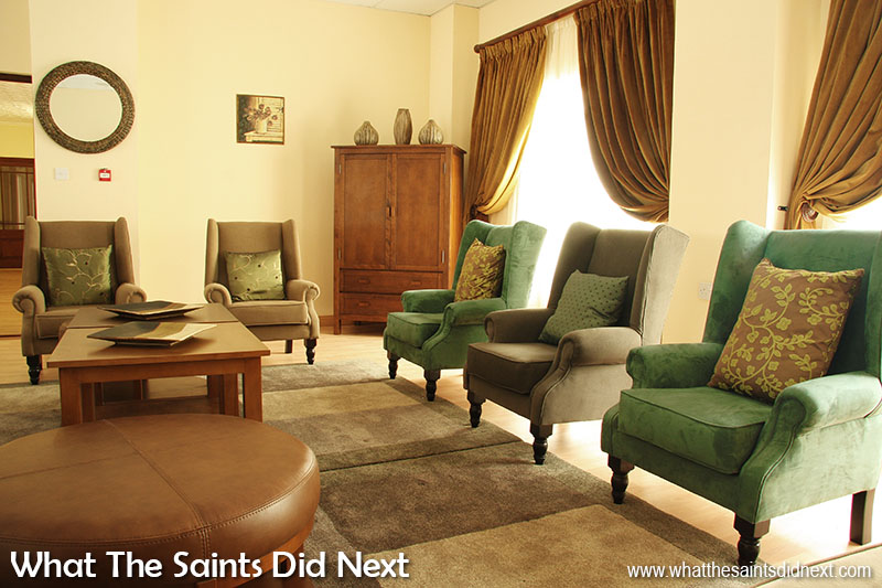 Beautiful décor of the brand new CCC on St Helena in September, 2008.