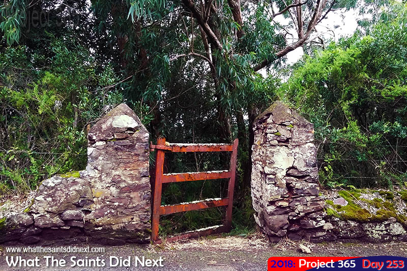 An old gate in the country.