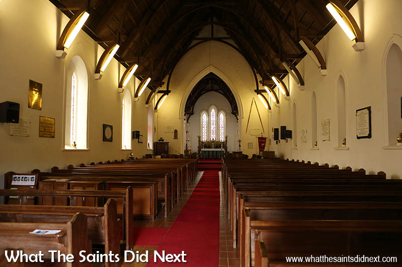 Inside St Pauls Cathedral, St Helena Island.