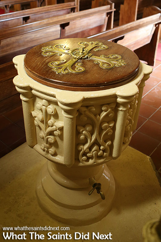 The font at St Pauls Cathedral.
