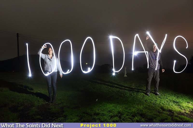 1000 Days 1000 Pictures completed. A two-image light painting composite for the big one.